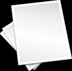 Plain Printing Paper Sheets Clip Art at Clker.com - vector clip art ...