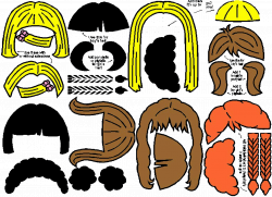 printable hair templates for paper dolls | PaperDoll ...