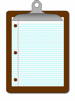 Clipart - Clipboard/Lined Paper