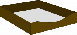 Clipart - Paper Letter Tray