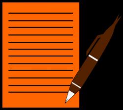 Clipart - Paper,Write,Pen
