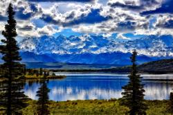 Clipart - Surreal Denali National Park