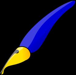 Fancy Blue Pen Clip Art at Clker.com - vector clip art online ...