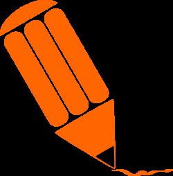 Clipart - Pencil stylized Orange