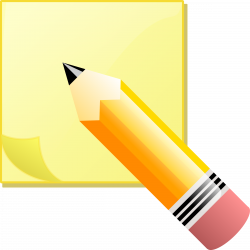 Clipart - sticky note pad and pencil