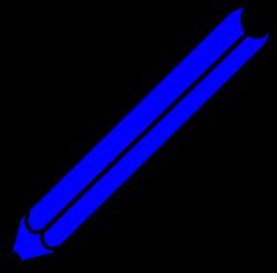 Blue Pencil Clip Art at Clker.com - vector clip art online, royalty ...