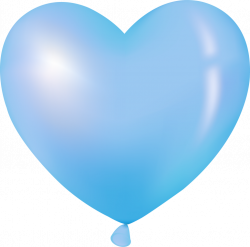 Balloon clipart blue heart - Pencil and in color balloon clipart ...