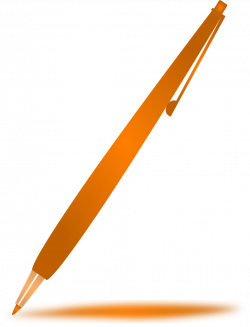 Pen Pencil Orange Write Note PNG Image - Picpng