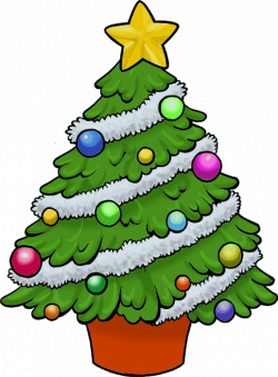 28+ Collection of Decorated Christmas Tree Clipart   High quality ...