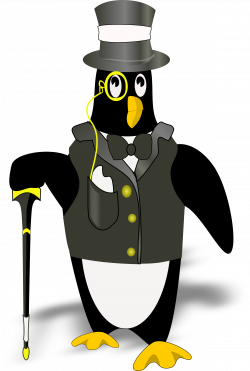 penguin in tux(bordered correctly) by @Dgimse, i resized the page ...