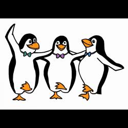 Clipart - Dancing Penguins - Clip Art Library
