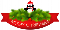 Merry Christmas Decor with Penguin PNG Clipart Image | Gallery ...