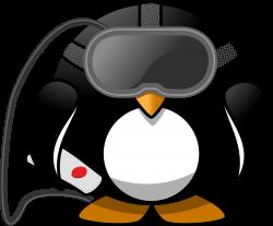 Clipart - Virtual Reality Penguin