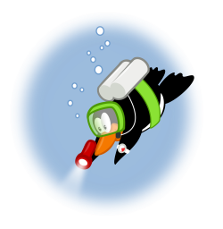 File:Penguin diving by mimooh.svg - Wikimedia Commons