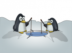Penguin clipart fish - Pencil and in color penguin clipart fish