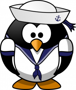 Clipart - Sailor penguin