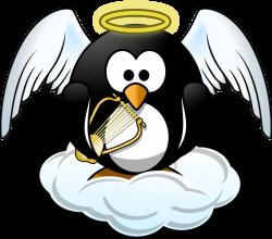 Public Domain Clip Art Image | Penguin in Heaven | ID ...