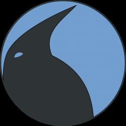 Clipart - Penguin Profile Medalion