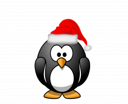 28+ Collection of Christmas Penguin Clipart Black And White | High ...