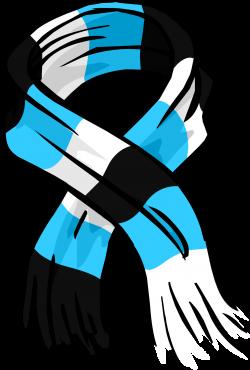 Blue Striped Scarf | Club Penguin Wiki | FANDOM powered by Wikia