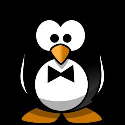 Penguin With A Bow Tie Clip Art at Clker.com - vector clip art ...