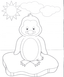 A Very Cute Baby Penguin Coloring Pages - Penguin Coloring Pages ...