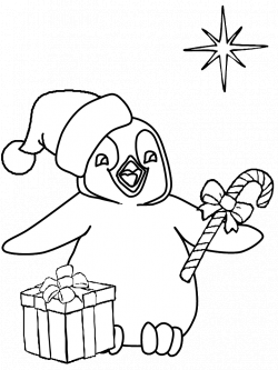 Penguin Christmas Coloring Pages & Coloring Book