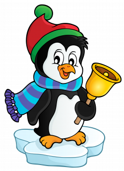 Penguin Cupcake Santa Claus Muffin Clip art - Penguin with Bell ...
