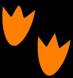 Orange Dino Footprints Clip Art at Clker.com - vector clip art ...
