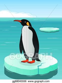 Vector Illustration - Penguin on iceberg. EPS Clipart ...