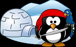 Clipart - Pirate in Antarctica