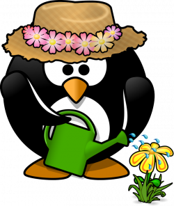 Garden penguin by Moini - He's got a green wing, now, doesn't he ...
