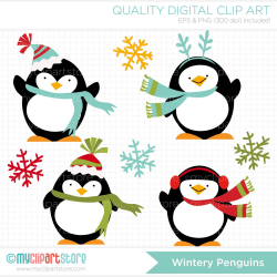 winter penguin clipart - Free Large Images | Decoupage ...