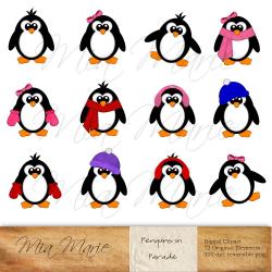 winter penguin clipart - Free Large Images | ajtó/ablak ...