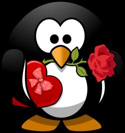 Clipart - Valentine Penguin
