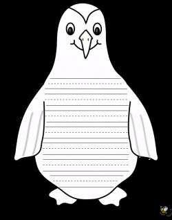 penguin writing paper - great for a penguin unit.   School stuff I ...