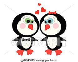 Vector Art - Two penguins. Clipart Drawing gg67946813 - GoGraph