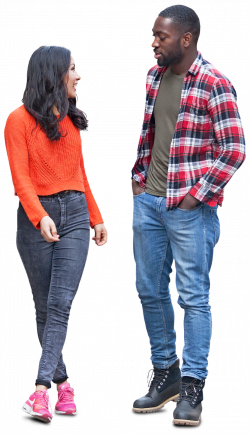 Cut out friends couple standing. Free download at www.mrcutout.com ...