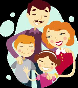 Family tree Cartoon Illustration - Happy four people 2525*2854 ...