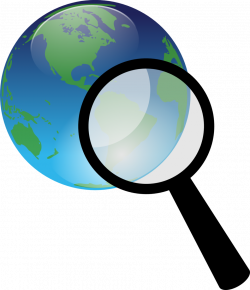 Public Domain Clip Art Image | Earth and magnify glass | ID ...