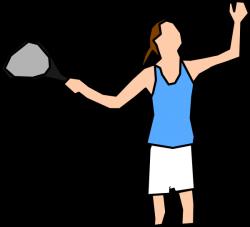 Girl Tennis Player Clip Art at Clker.com - vector clip art online ...
