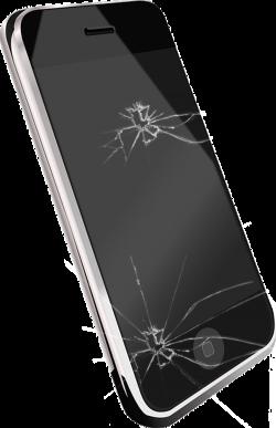 iPhone 4S Vibration Telephone call Clip art - Broken screen black ...