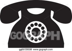 EPS Vector - Old phone. Stock Clipart Illustration ...