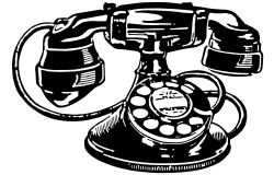 28+ Collection of Telephone Drawing Png | High quality, free ...