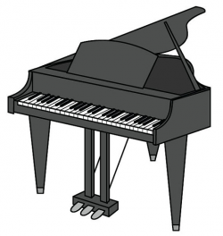 Piano Clip Art/ Piano Vector Graphic Digital Download/ Piano