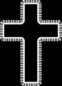 Clipart - Cross Piano Keys