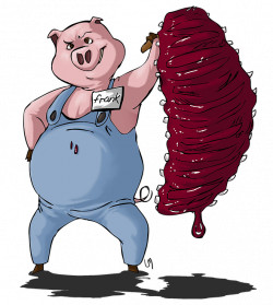 Pigs Eatin' Ribs