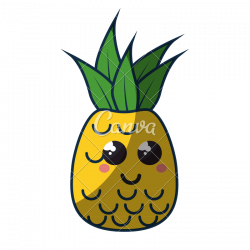 Cute Pineapple Icon - Photos by Canva