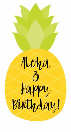 Happy Birthday Tag Pineapple - Happy Birthday Pineapple ...