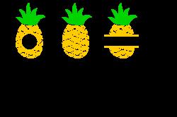 Pineapple heart svg, Pineapple monogram | Design Bundles